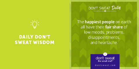 daily don't sweat wisdom